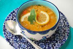 red lentil soup with lemon (making it vegan-style:))