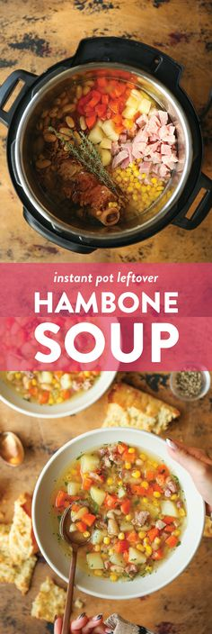 Instant Pot Hambone Soup Recipe | Damn Delicious