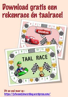 Rekenrace en taalrace – Juf Wendy in wording Spelling For Kids, Math Tables, Home Activities, Hosting Company, Letters And Numbers, Speech And Language, Kids Education, Circuit, Homeschool