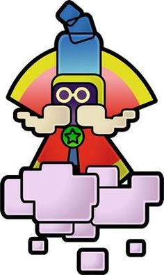 Cloud Guy from the official artwork set for #SuperPaperMario on #Wii. #Mario. Visit for more info http://www.superluigibros.com/super-paper-mario