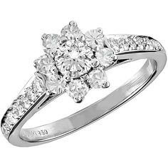 Preowned Tiffany & Co. Diamond Platinum Ring ($4,900) ❤ liked on Polyvore featuring jewelry, rings, multiple, platinum diamond rings, diamond band ring, tiffany co rings, pre owned diamond rings and preowned jewelry