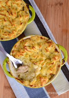 I love Chicken and Leek pie, usually it comes topped with pastry, but to keep the syns down I've used mashed potato. Which I pipped on (It looks pretty right?) One little trick I have learned when doing a mashed potato topping for a pie, is to add eggs, they ensure it gets a nice...Read More »