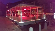 The Basement - Padstow at Night AGS Screens, Palazzo Umbrellas and Heaters