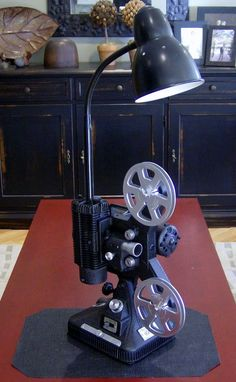 Vintage Steampunk Keystone Movie Projector Lamp Entertainment Center
