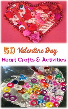 50 Valentine Day Heart Craft and Activities for Kids #LearnActivities