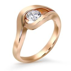 Frank Reubel Designs contemporary #rosegold diamond engagement ring #bridal www.gembycarati.com www.facebook.com/gembycarati
