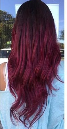 trendy hair color balayage burgundy The Effective Pictures We Offer You About purple hair A qual Hair Dye Colors, Ombre Hair Color, Hair Color Balayage, Red Balayage Hair Burgundy, Haircolor, Red Purple Hair Color, Beautiful Hair Color, Cool Hair Color, Dye My Hair