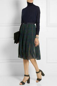 Sacai - Sacai Luck printed chiffon midi skirt