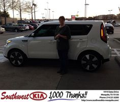 #HappyAnniversary to Linda Sweeley on your 2014 #Kia #Soul from Harold Bennett at Southwest Kia Mesquite!