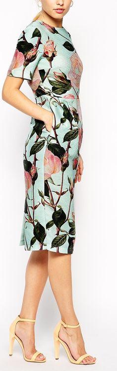 textured rose dress