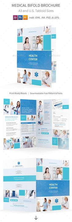 Modern Medical Trifold Brochure Print templates, Brochures and - medical brochure template