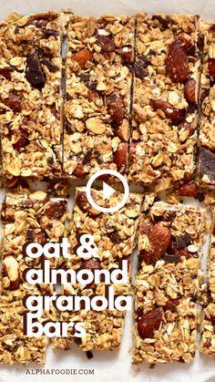 Healthy Granola Bars, Healthy Bars, Healthy Sweets, Healthy Baking, Healthy Snacks For Diet, Granola Bar Recipes, Healthy Homemade Granola Bars, Healthy Cereal Bars, Homemade Sugar Free Granola