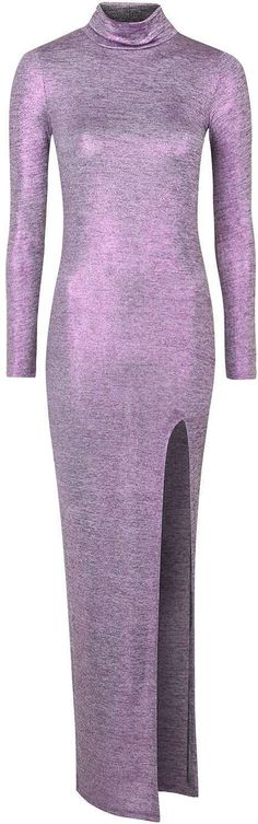 Womens lilac purple metallic maxi dress by jaded london from Topshop - £75 at ClothingByColour.com