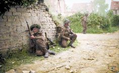 The British Army In Normandy Men of 12 Platoon, 'B' Company, Royal Scots Fusiliers take cover in St Manvieu during Operation 'Epsom', 26 June Get premium, high resolution news photos at Getty Images Ww2 Pictures, Ww2 Photos, Canadian Army, British Army, Canadian Soldiers, British Men, D Day Normandy, Army Infantry, Berlin