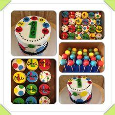 Ball themed first birthday goodies. Bouncy Ball Birthday, Ball Theme Party, Balloon Birthday Themes, 2nd Birthday Party Themes, Ball Birthday Parties, Birthday Ideas, Birthday Fun, Baby Boy First Birthday, First Birthday Cakes