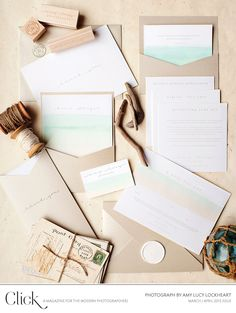 Ombre stationery