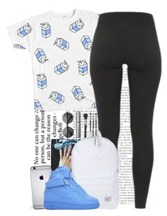 """""""Put your Milk in My Coco Puffs (145)"""" by oneandonly-britbrat ❤ liked on Polyvore featuring Japonesque, Herschel Supply Co., NIKE and ZeroUV"""