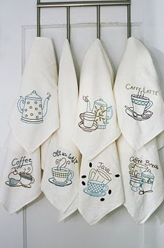 Aunt Martha's Mocha Madness set #embroidery #coffee