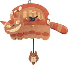 My Neighbor Totoro - Natural Wood Nekobus Clock                                                                                                                                                                                 More