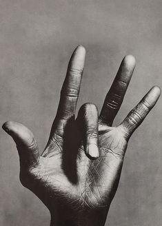 The hand of Miles Davis by Anton Corbijn
