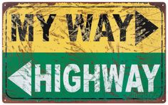 My Way Emaille bord bij AllPosters.nl e15
