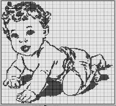 Disney Cross Stitch Patterns, Cross Stitch For Kids, Simple Cross Stitch, Cross Stitch Charts, Filet Crochet Charts, Crochet Cross, Crochet Shawl, Baby Chart, Simply Crochet