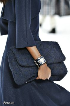 Jewelry details from Chanel RTW collection Fashion Week, Fashion Show, Fashion Outfits, Womens Fashion, Fashion Design, Fashion Details, Chanel, Cold Weather Outfits, Cool Style