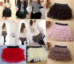 Sexy Fashion bodycon Full Tutu Tulle Tier 5 Layer Mini Cake Skirts