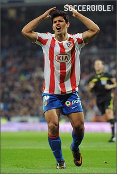 Sergio Aguero formerly of Atletico Madrid (now Manchester City FC) with his Nike Mercurial Vapor series