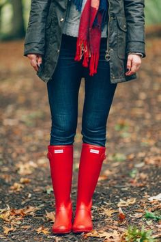 fall style | hunter boots