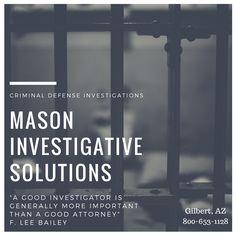 Private Investigator in Gilbert, AZ. We conduct criminal defense private investigations. Call 800-653-1128 for a free consultation.