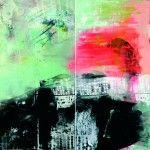 "Programa General  Galerie Kuhn & Partner,  Berlín Birgit Borggrebe ""nach uns die Sintlut"" Diptychon 2013 2x120x100 cm"