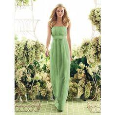 Peridot bridesmaid dress