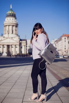www.goldenweek.de  #sunny #berlin #style #pastel #outfit #ootd #blogger #fashionblogger_de #cute #silver #bagpack #bag