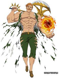 Escanor/ The Lion Sin of Pride - Nanatsu no Taizai/ Seven Deadly Sins Seven Deadly Sins Anime, 7 Deadly Sins, Anime Guys, Manga Anime, Character Art, Character Design, 7 Sins, Otaku, Anime Characters