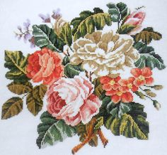 Marie Barber Cross Stitch | Marie Barber VICTORIAN FLORAL BOUQUET - Counted Cross Stitch Pattern ...