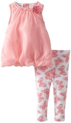 Amazon.com: Calvin Klein Baby-girls Infant Tunic with Printed Butterfly Leggings: Clothing