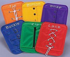 Dressing Frames Set Montessori Materials Practical Life Preschool OT Autism
