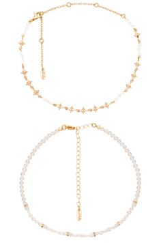 Layered Stone Necklace in Gold Ettika 9pnUSc8x