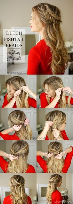 Dutch style half up-do