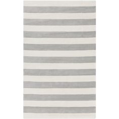Surya Cosmopolitan Stripe Ivory & Light Gray Rug (available in runner also)