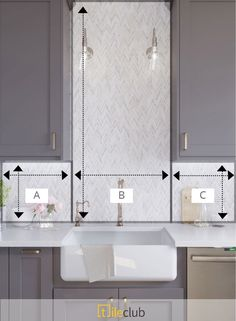How to Calculate How Much Tile you Need to Order for a Kitchen Backsplash with Cabinets and Appliances Chevron, Kitchen Tiles, Mosaic, Kitchen Backsplash, Calacatta, Mosaic Tiles, Calacatta Gold, Chevron Tile, Room Tiles