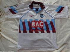Vintage Authentic west ham United XL Bukta Away 1991 - 92 Football Soccer shirt