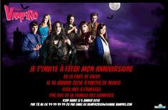 invitation anniversaire chica vampiro