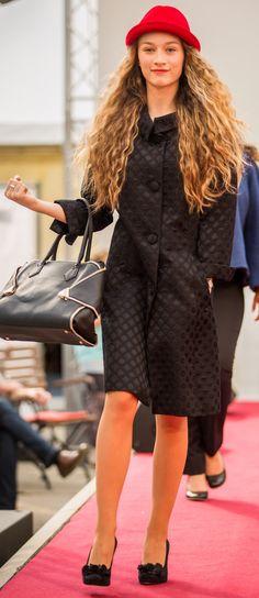 Damen Mantel Baronia Classic Jaquard perlschwarz