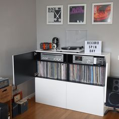 Vinyl Record Stand, Vinyl Record Display, Lp Storage, Record Storage, Turntable Setup, Vinyl Store, Vinyl Frames, Audiophile, Small Spaces