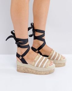 ASOS - Take a Break - Sandales avec plateforme