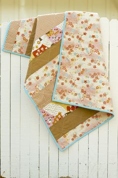 simple, fabric-centered quilt