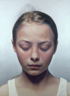 Mixed media painting by Gottfried Helnwein