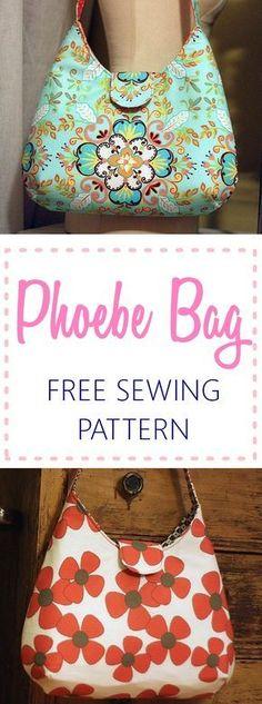 free bag pattern   handbag pattern   purse pattern   learn to sew bags   tote sewing pattern
